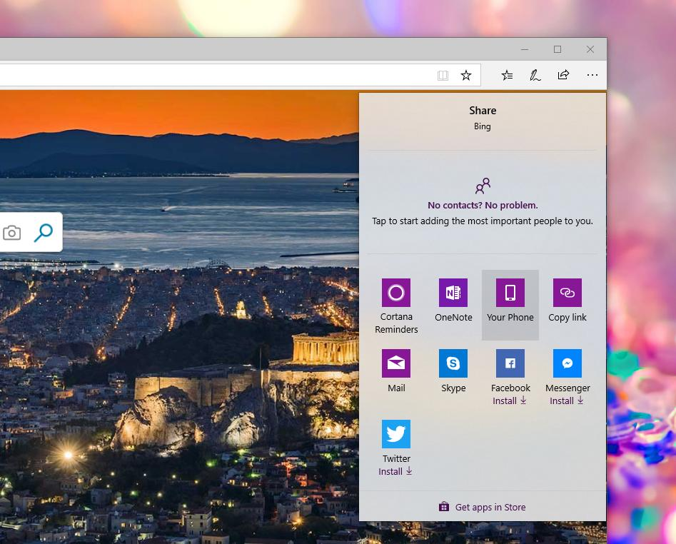 Send Links from Windows 10 to Android Using the Native Share