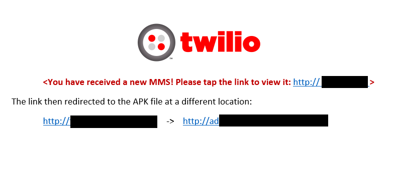 Smishing Campaign Uses Twilio to Deliver DroidJack Malware