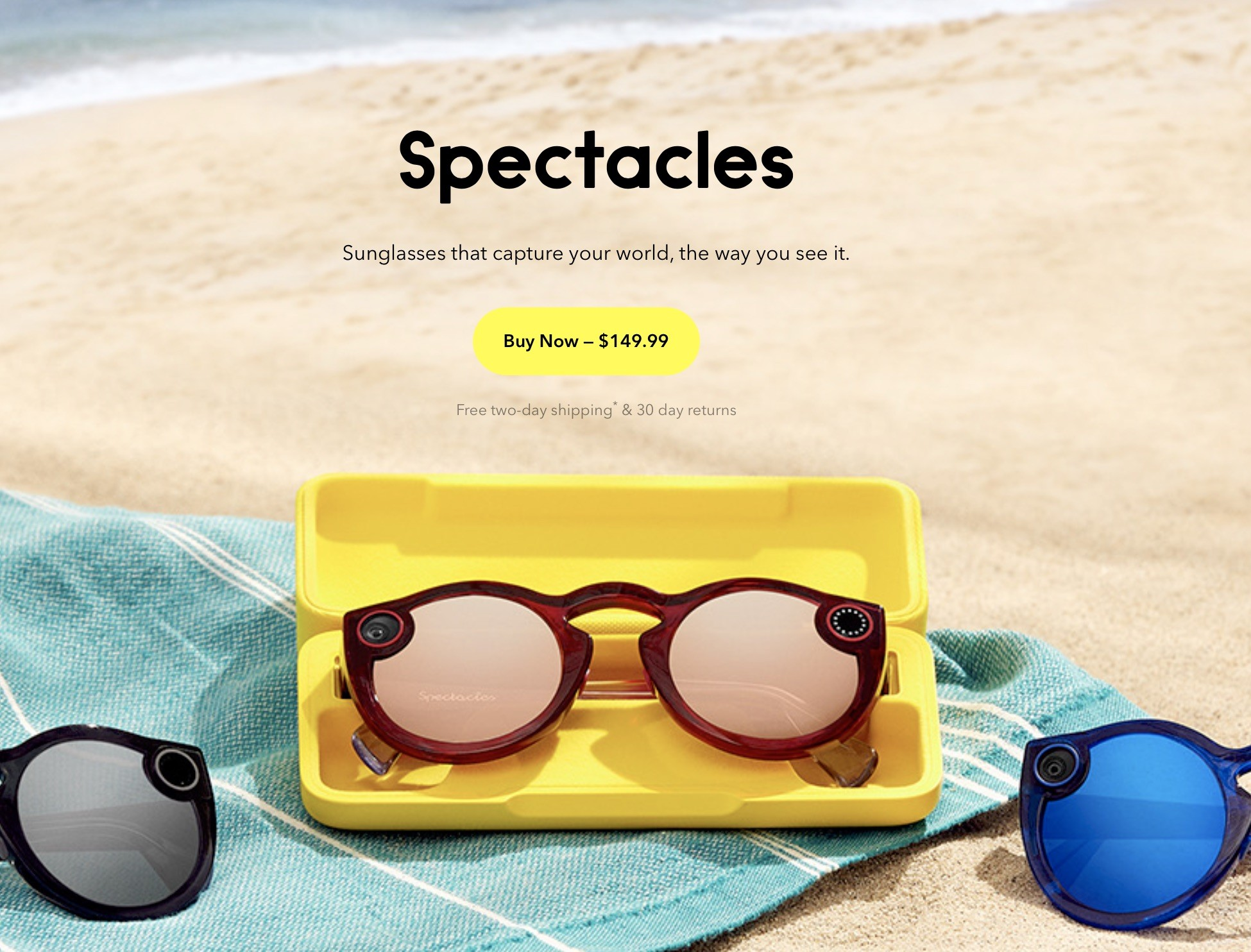 e4533ab92b Built to wear them as your everyday sunglasses, Snapchat Spectacles 2 comes  with a built-in camera that lets you take photos wherever you go and record  ...