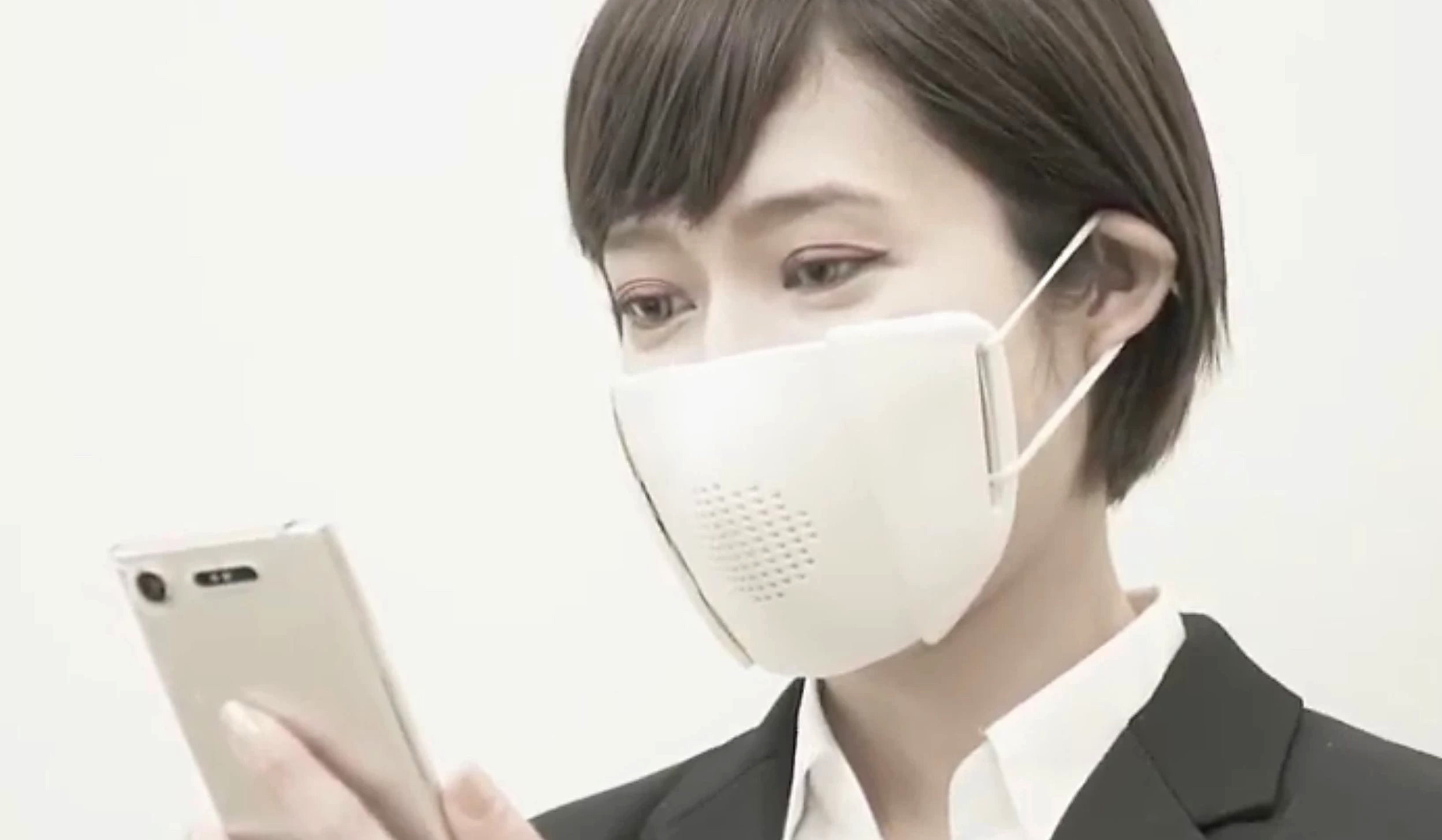 Japanese Startup Makes 'Connected' Face Mask for Coronavirus Crisis