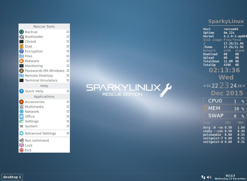 SparkyLinux 4 3 GameOver, Multimedia, and Rescue Editions Arrive