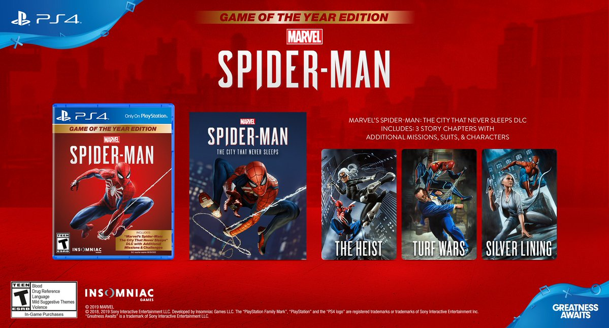 Spider-Man: Game of the Year Edition Out Now, Contains Full