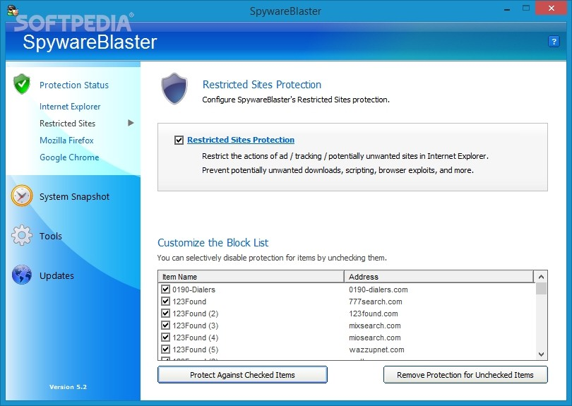Using SpywareBlaster to protect your computer from Spyware, Hijackers, and Malware