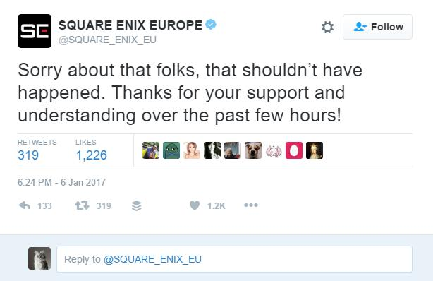 Square Enix Hacked to Tweet Bad Words About EA and FIFA