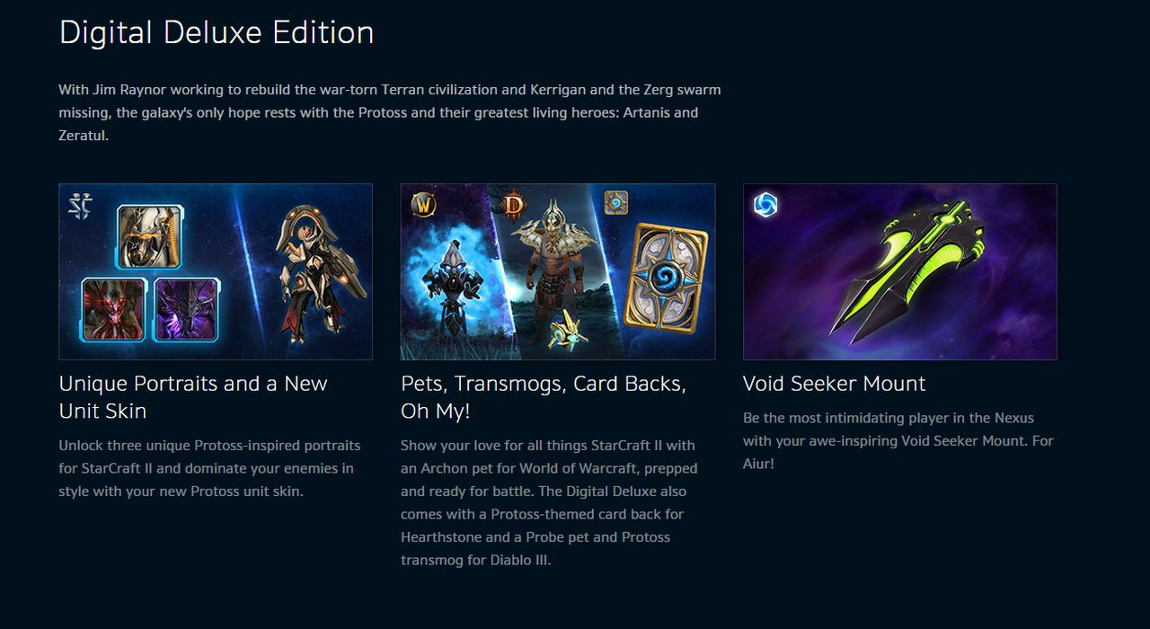 Starcraft 2: Legacy of the Void Digital Deluxe Edition Revealed
