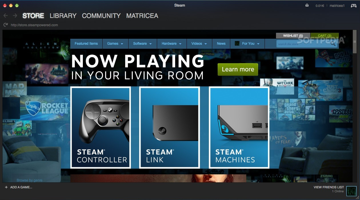Steam Controller and Steam Link Are Now Supported on Mac OS X