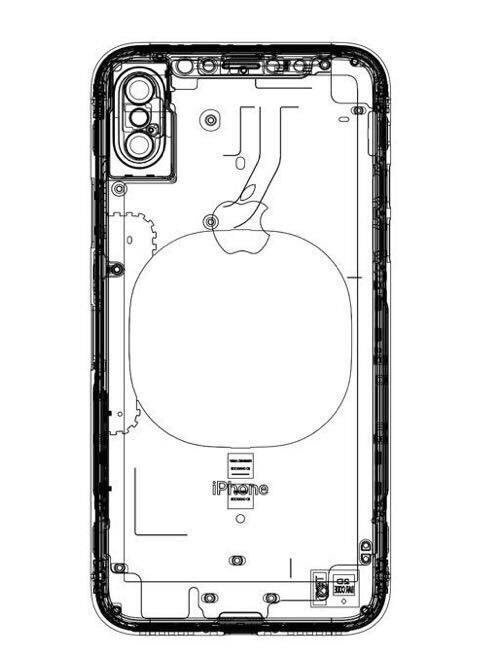 supposed apple iphone 8 schematic hints at wireless charging feature