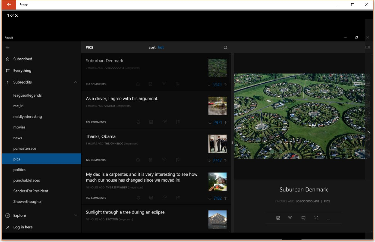 the best reddit client for windows phone launches on