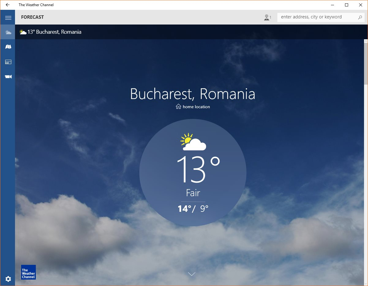 the weather channel universal app for windows 10 now available