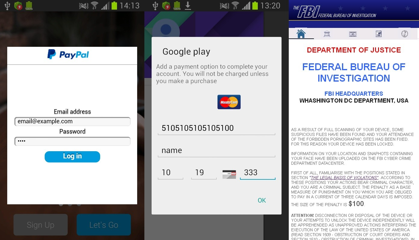 Credit Your And Steals Phone Android Locks Card Details Then Malware This