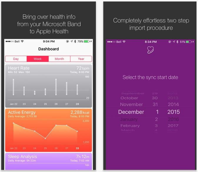 The App Allows You To See Band Info In Apple Health
