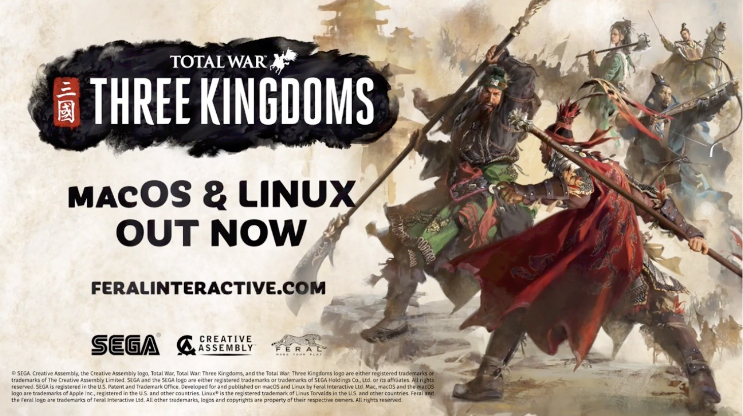 Total War: Three Kingdoms Out Now for Linux and Mac, Ported
