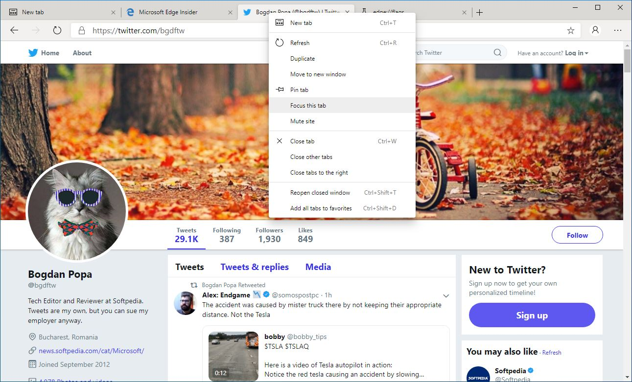 Try Out Focus Mode in Chromium-Based Microsoft Edge Browser