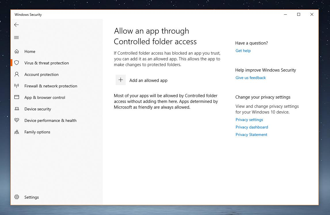 Use Windows Security to Block Apps on Windows 10 Version 1809