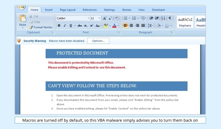 VBA Malware Makes a Comeback Inside Booby-Trapped Word Documents
