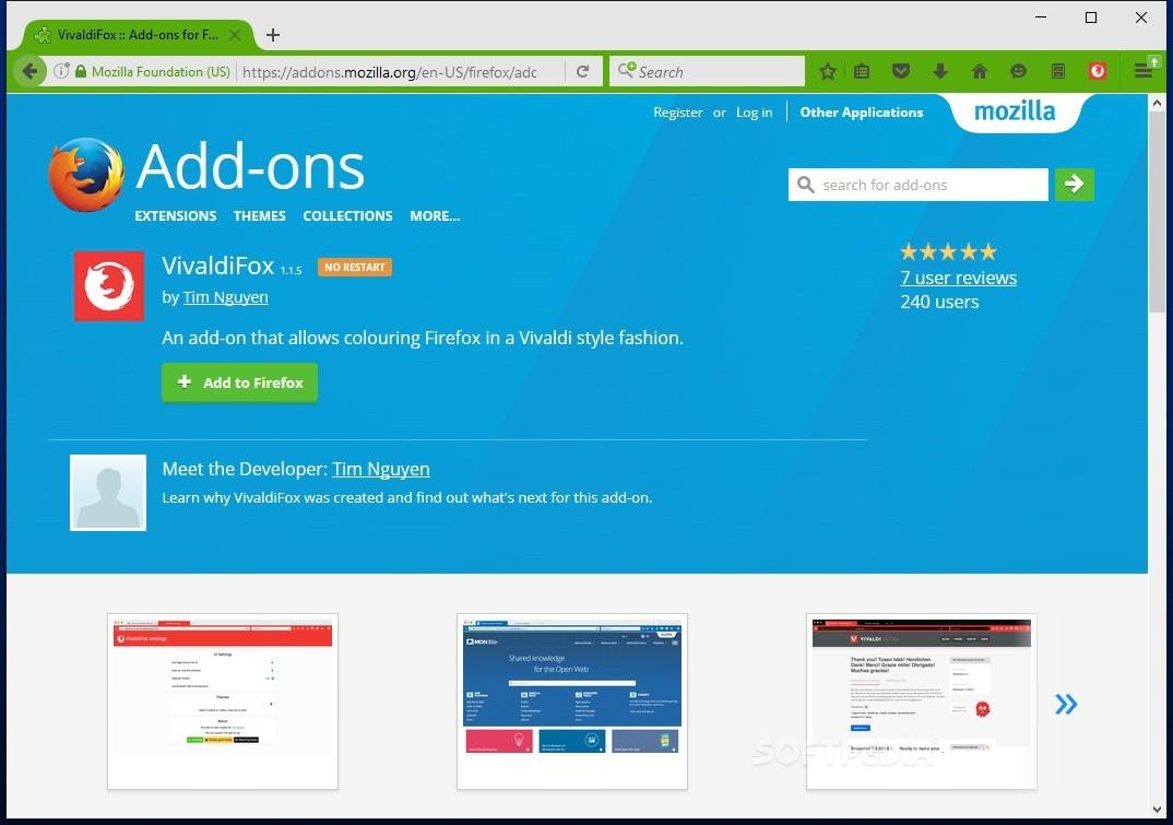 VivaldiFox Is an Add-On That Turns Firefox into Vivaldi
