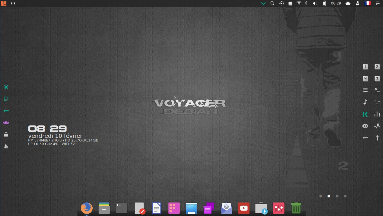 Voyager 9 Linux Distro Is Based on Debian GNU/Linux 9