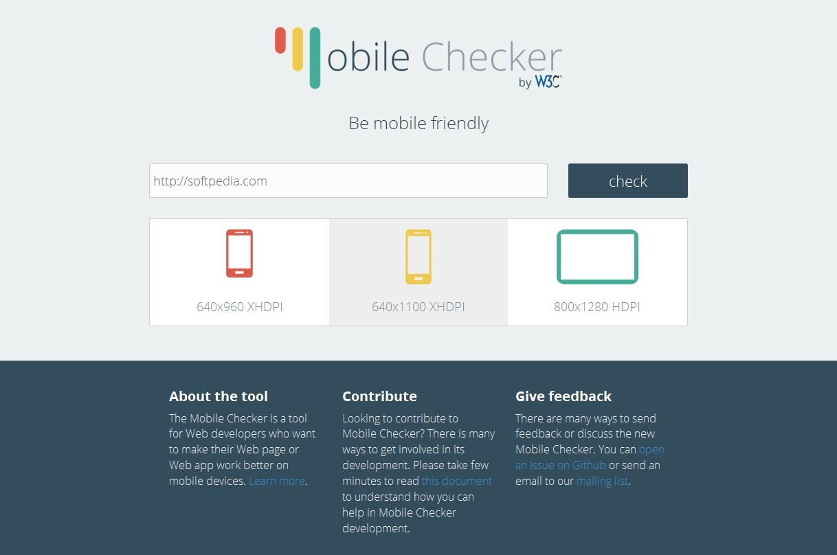 The New W3c Mobile Checker