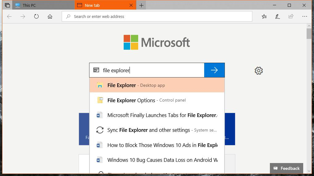 Windows Sets tab feature killed even before it could be released