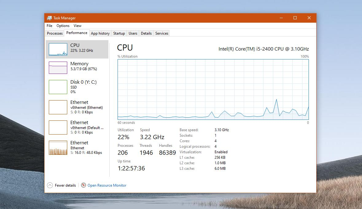 What's New in Windows 10 Version 2004: GPU Temperature in the Task Manager