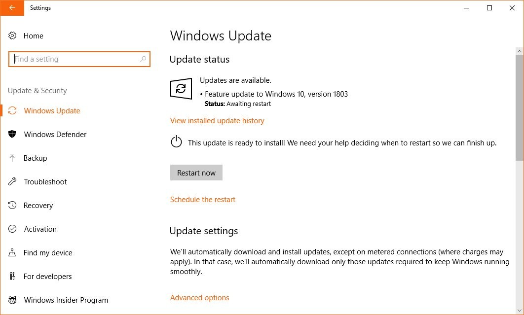 Windows 10 April 2018 Update Might Fail to Install or Freeze