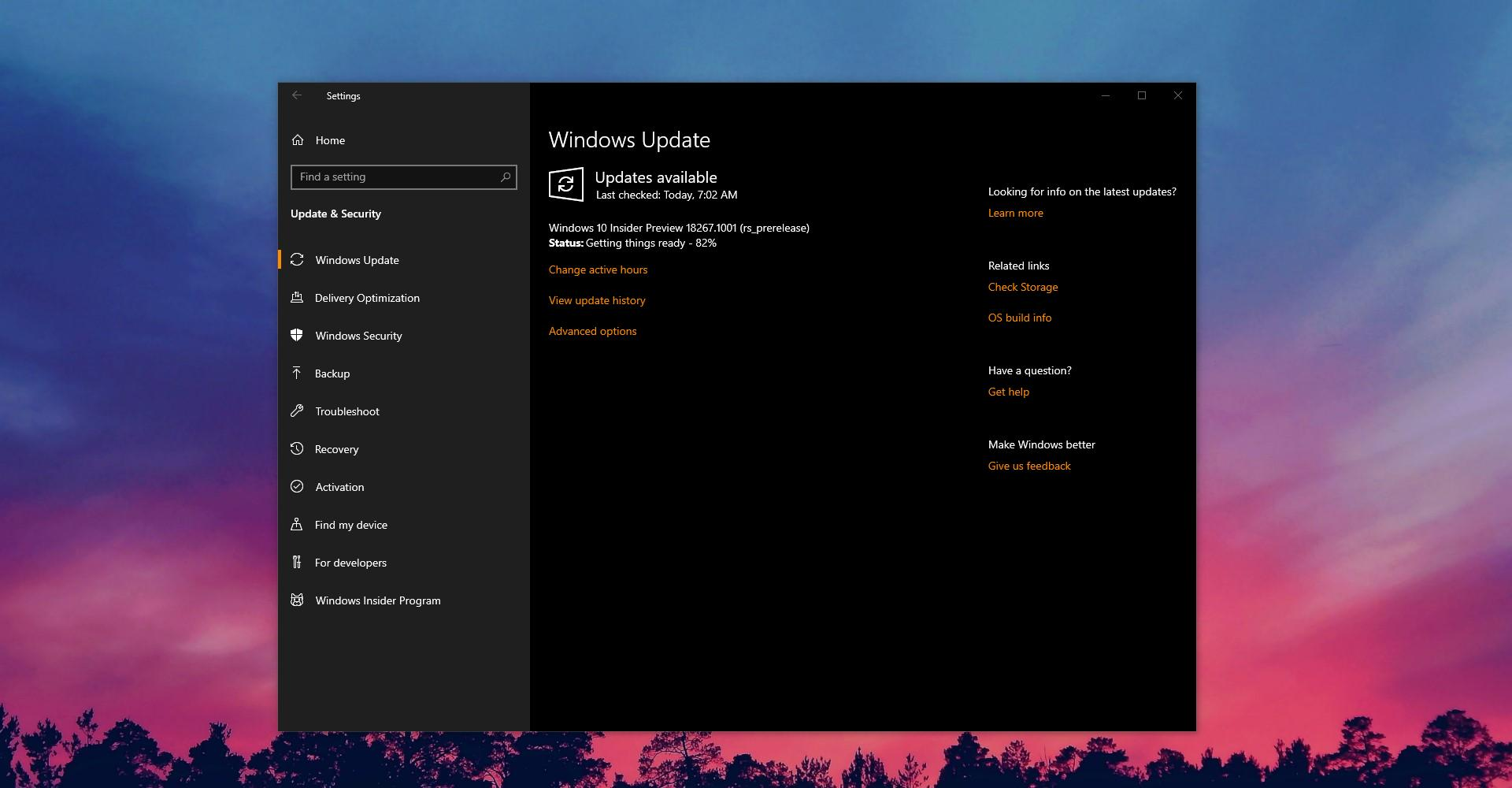 Windows 10 Build 18267 (19H1) Now Available for Download