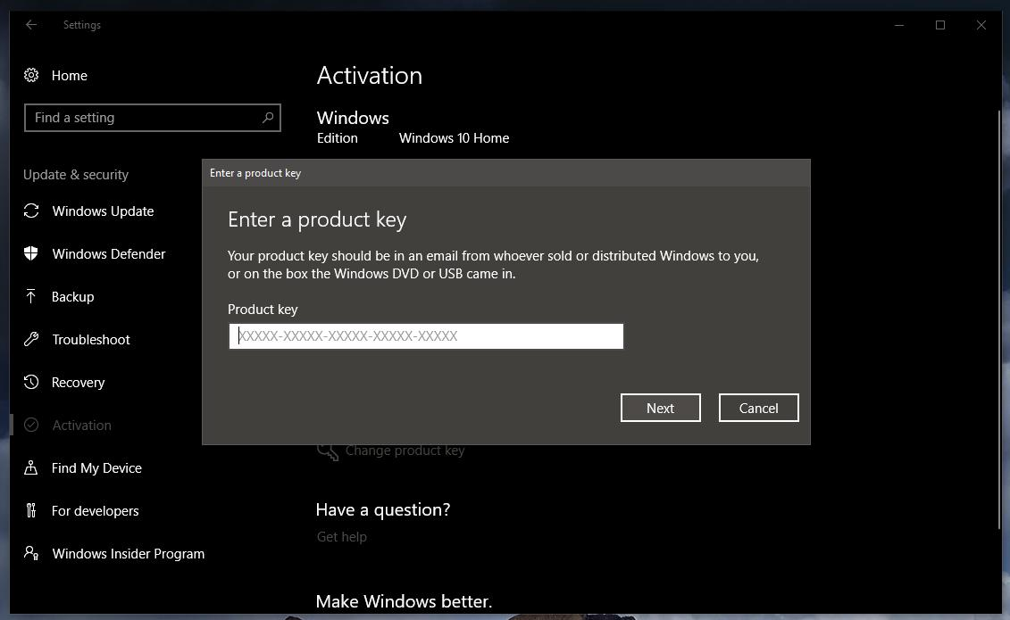 getting product key from windows 7