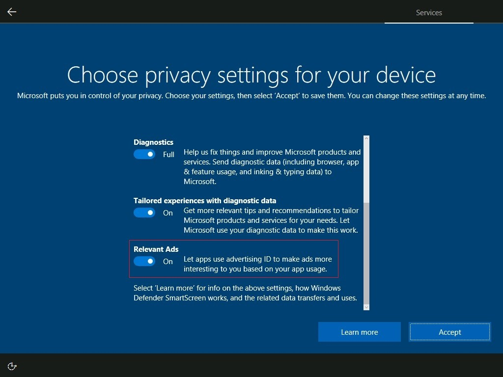 Windows 10 Creators Update Hides a Secret Ad Switch, Privacy
