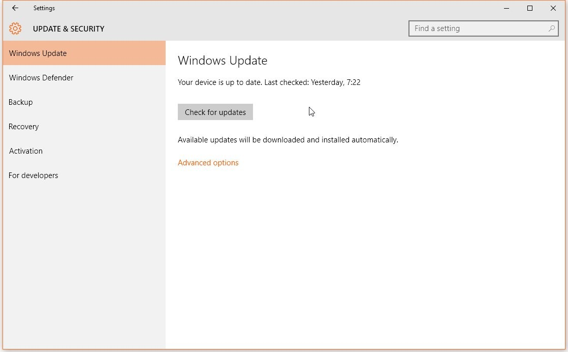Cumulative Update For Windows 10 Version 1607 Error - gaurani