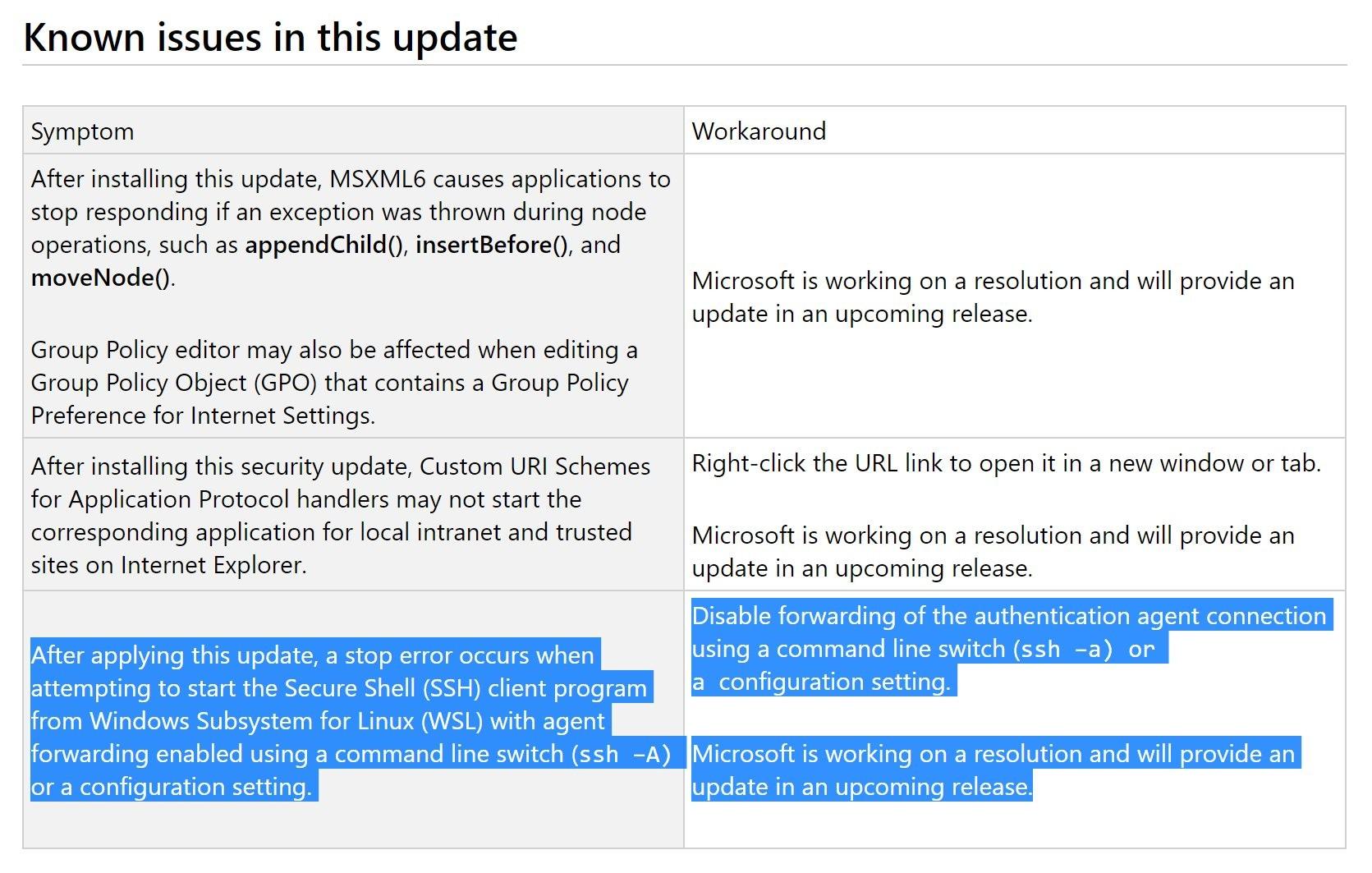 Windows 10 Cumulative Update KB4489868 Breaks Down a Linux