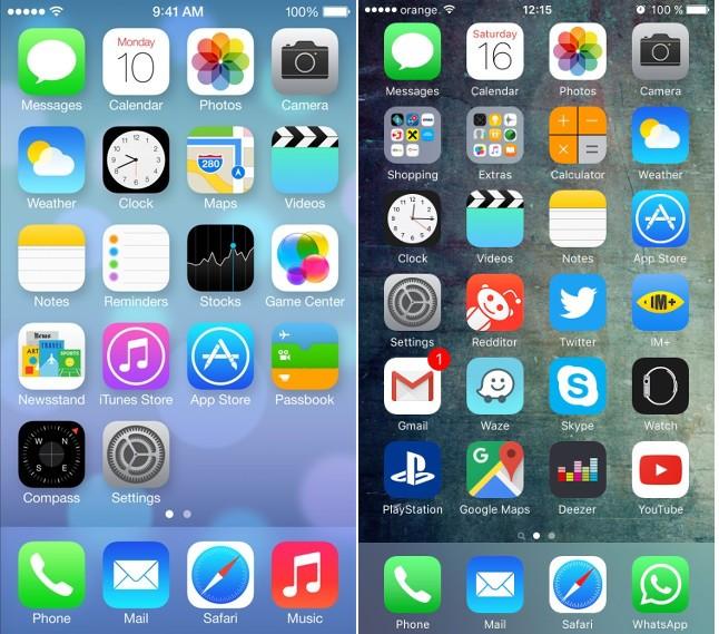 Windows 10 Mobile Start Screen Vs Ios Home Screen Beauty And The Beast
