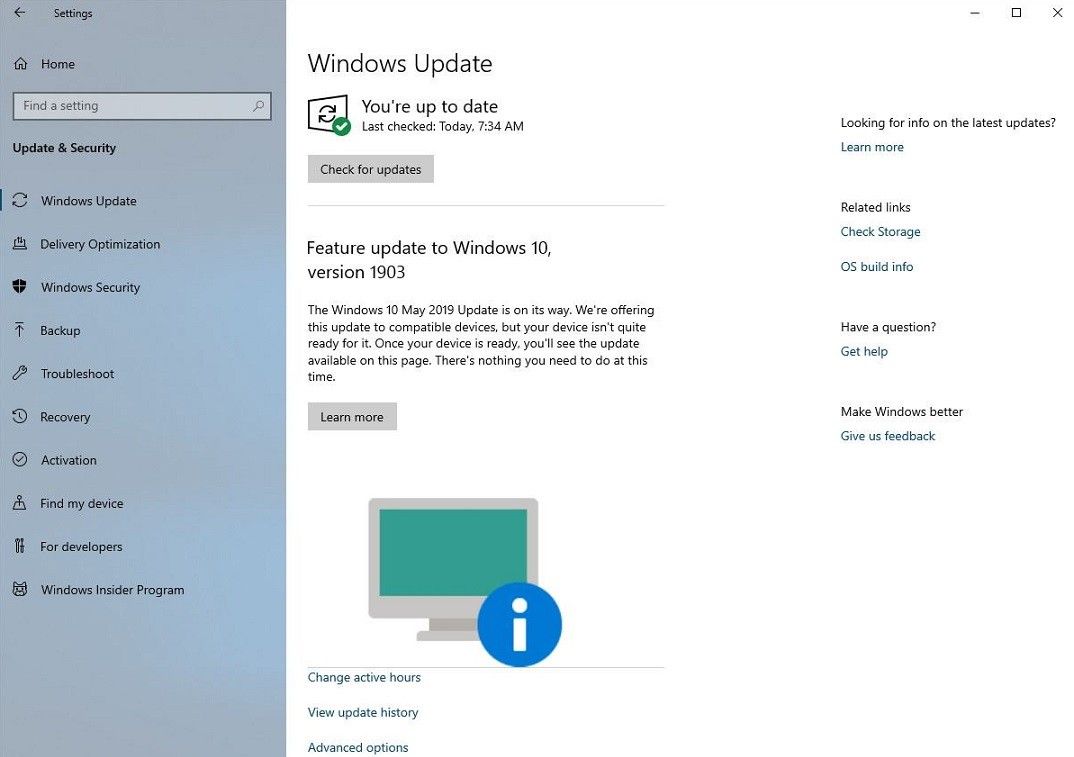 Windows 10 Now Warns When a Device Can't Be Upgraded to Version 1903