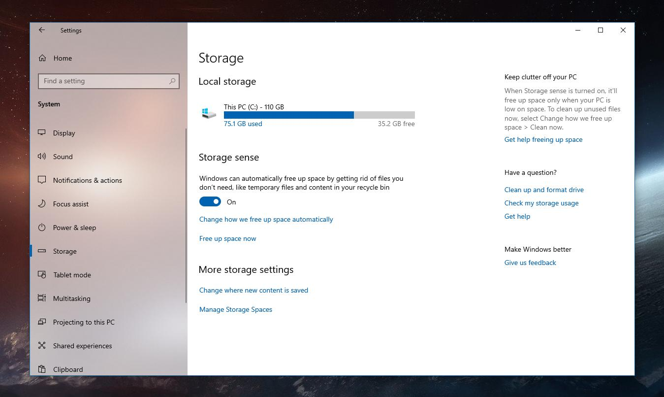 Windows 10 October 2018 Update: How the OS Will Free Up Disk