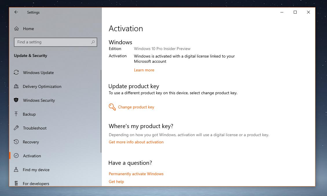 how to find product activation key for windows 10