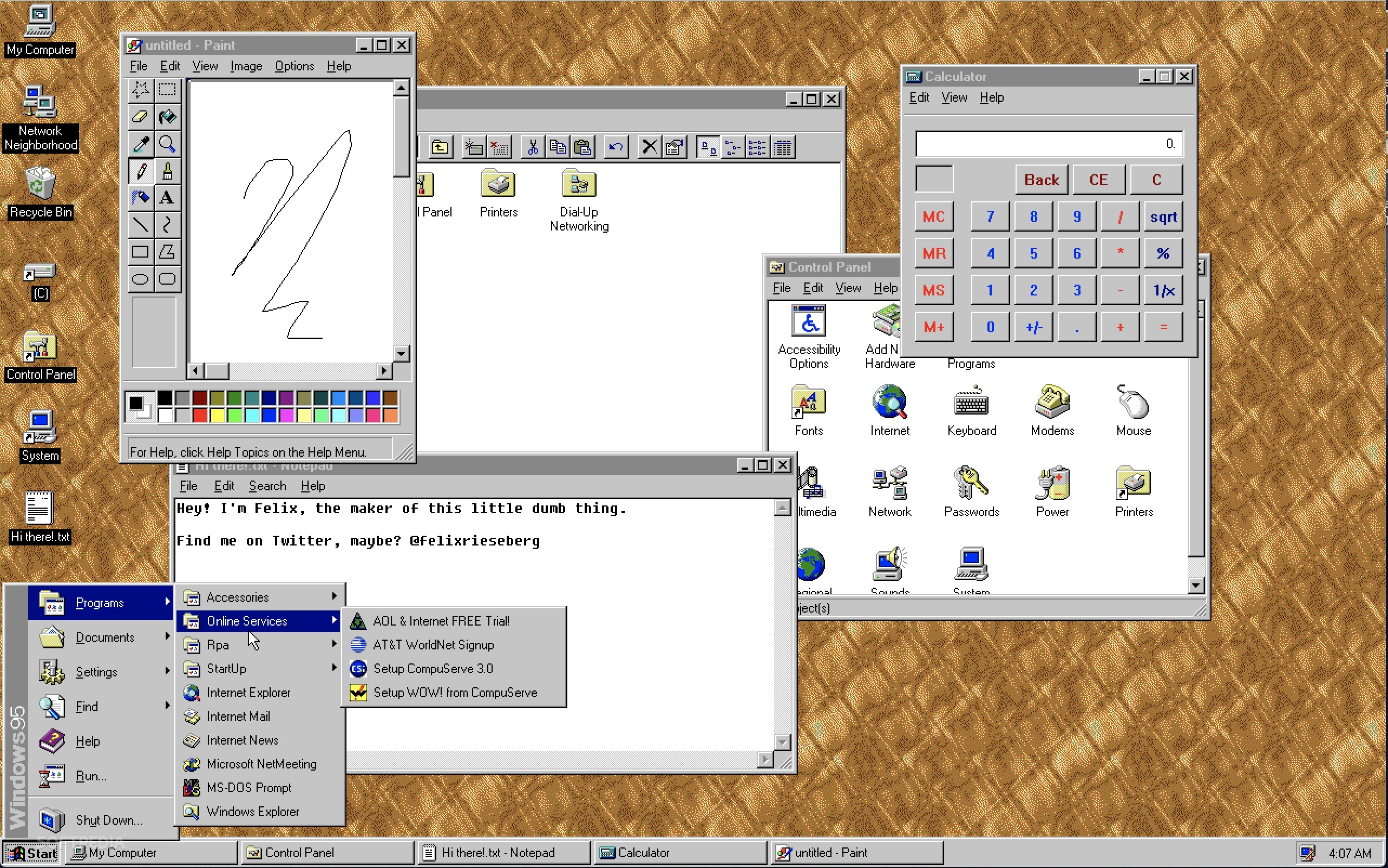 Windows 95 Is Now Available on Linux, Mac, and Windows 10 as an