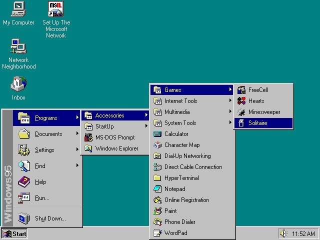 windows 95 start menu designer disappointed with windows 10 version