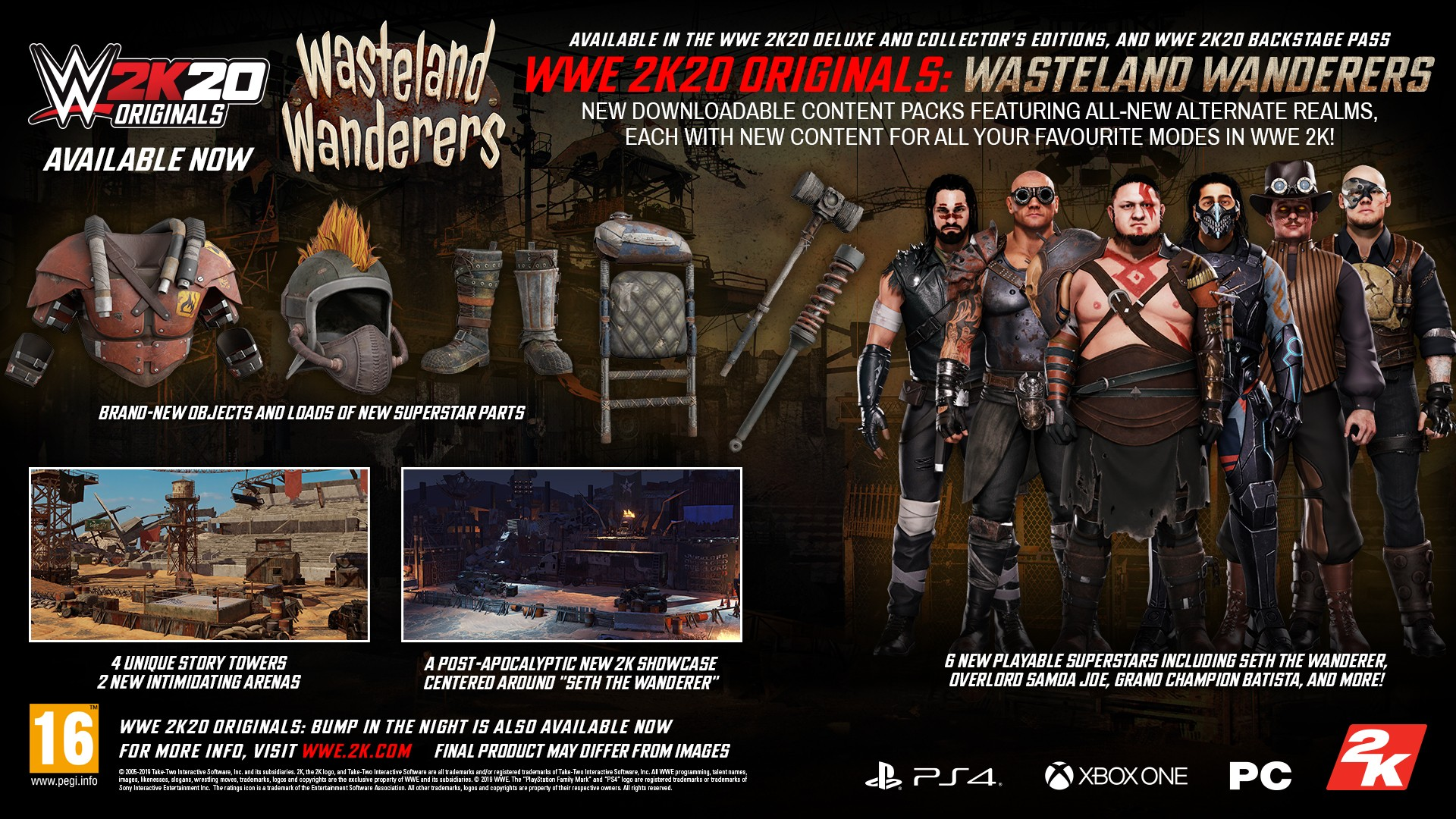 Wwe 2k20 S Second Dlc Is Themed Around A Post Apocalyptic Wasteland