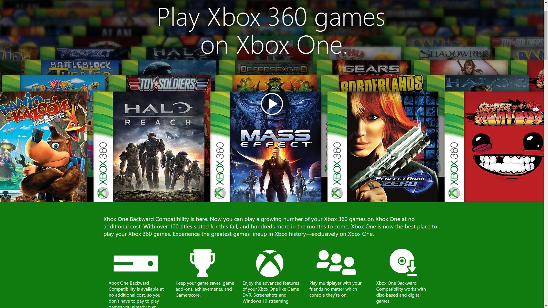Xbox 360 Games For Xbox 1 : Xbox one to get windows redesign and backwards