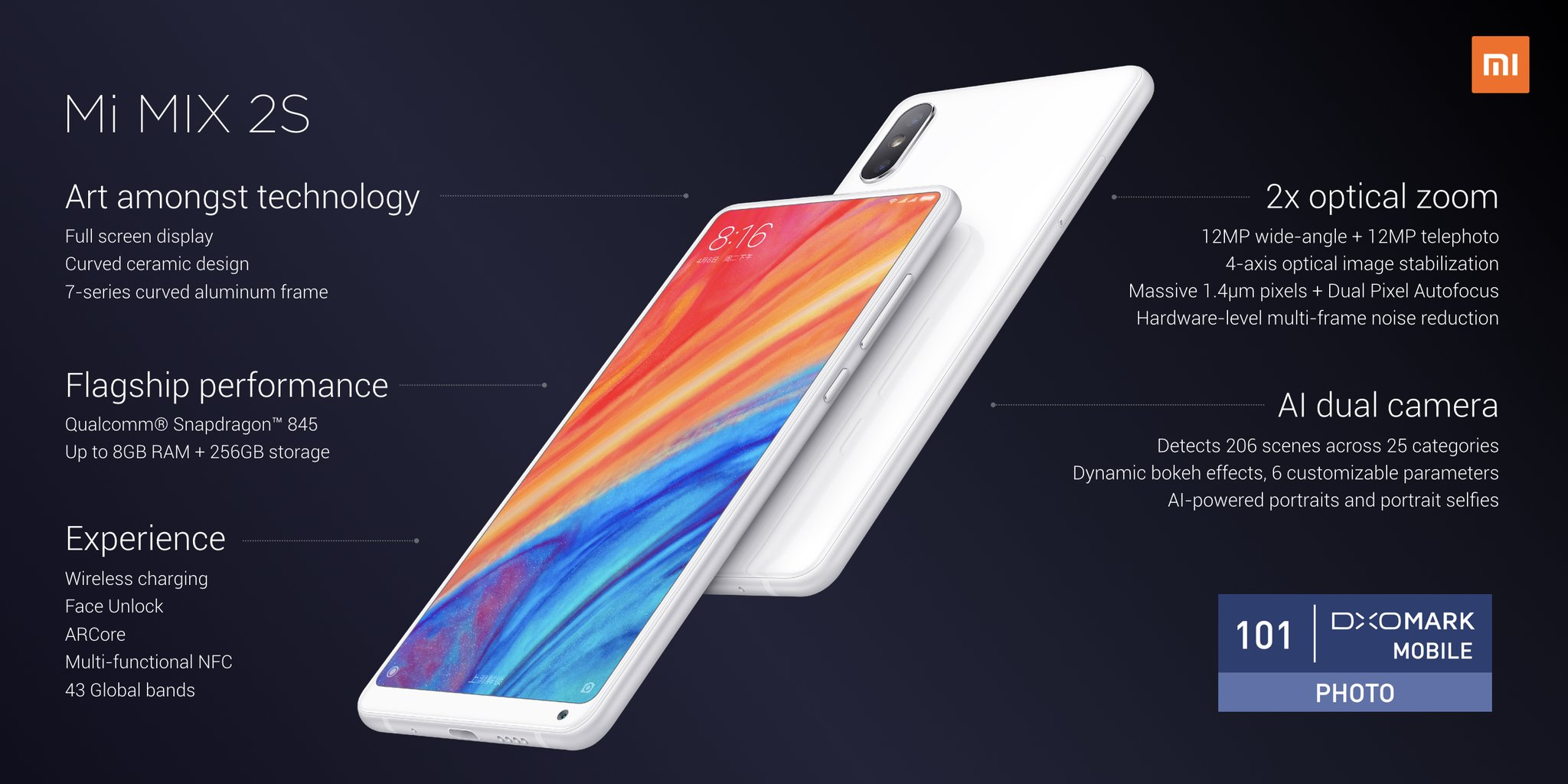 Xiaomi Launches the Mi MIX S2 Android Smartphone to Take ...