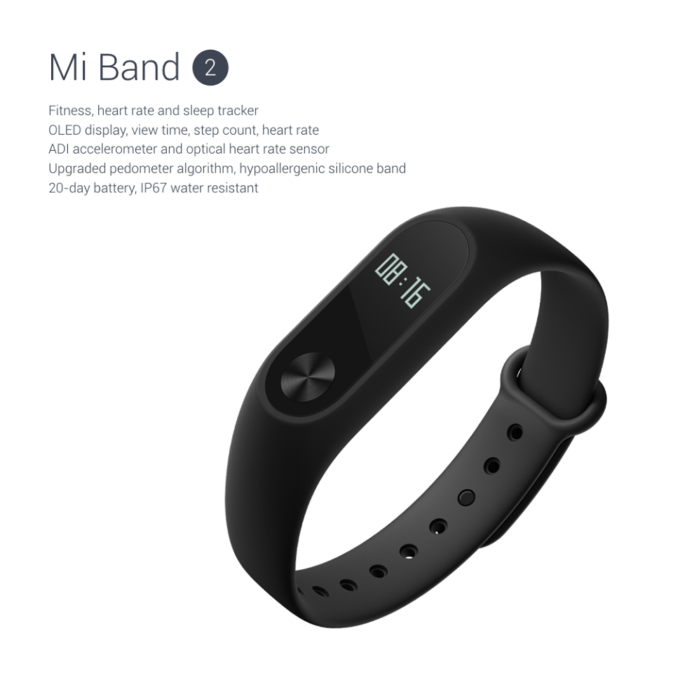 Xiaomi Unveils Mi Band 2 with OLED Display and a Price Rise