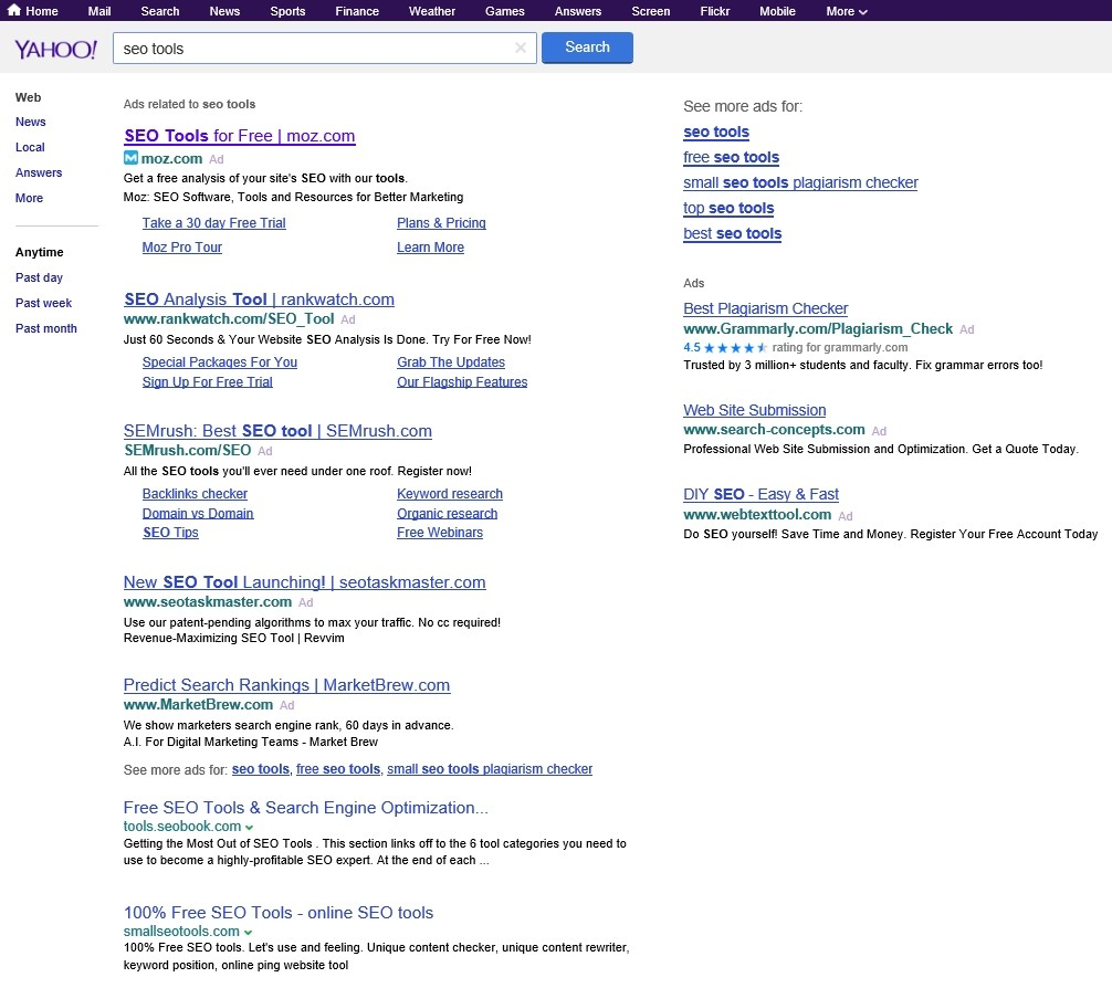 Search Results: Yahoo Confirms Testing Google-Powered Search Results