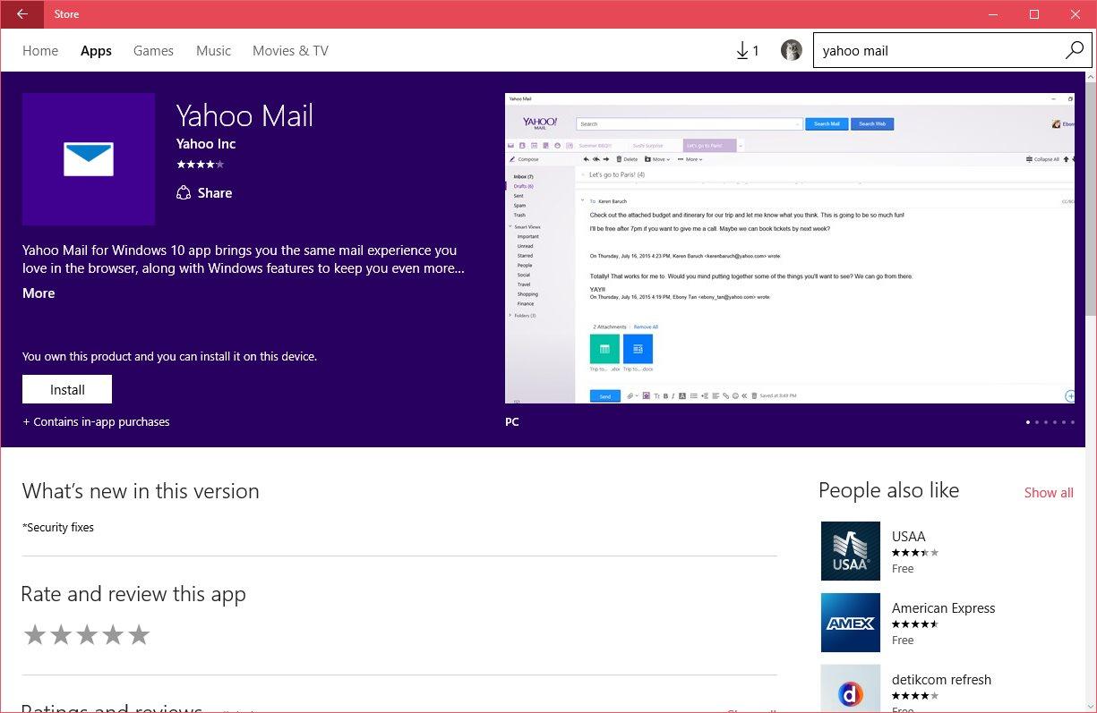 Yahoo Devs Praise Microsoft's Windows 10 App Concept