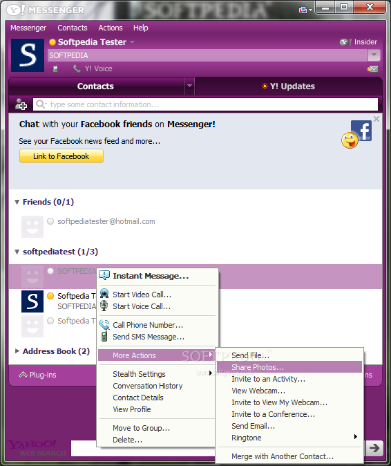 Incorporating yahoo messenger into your website