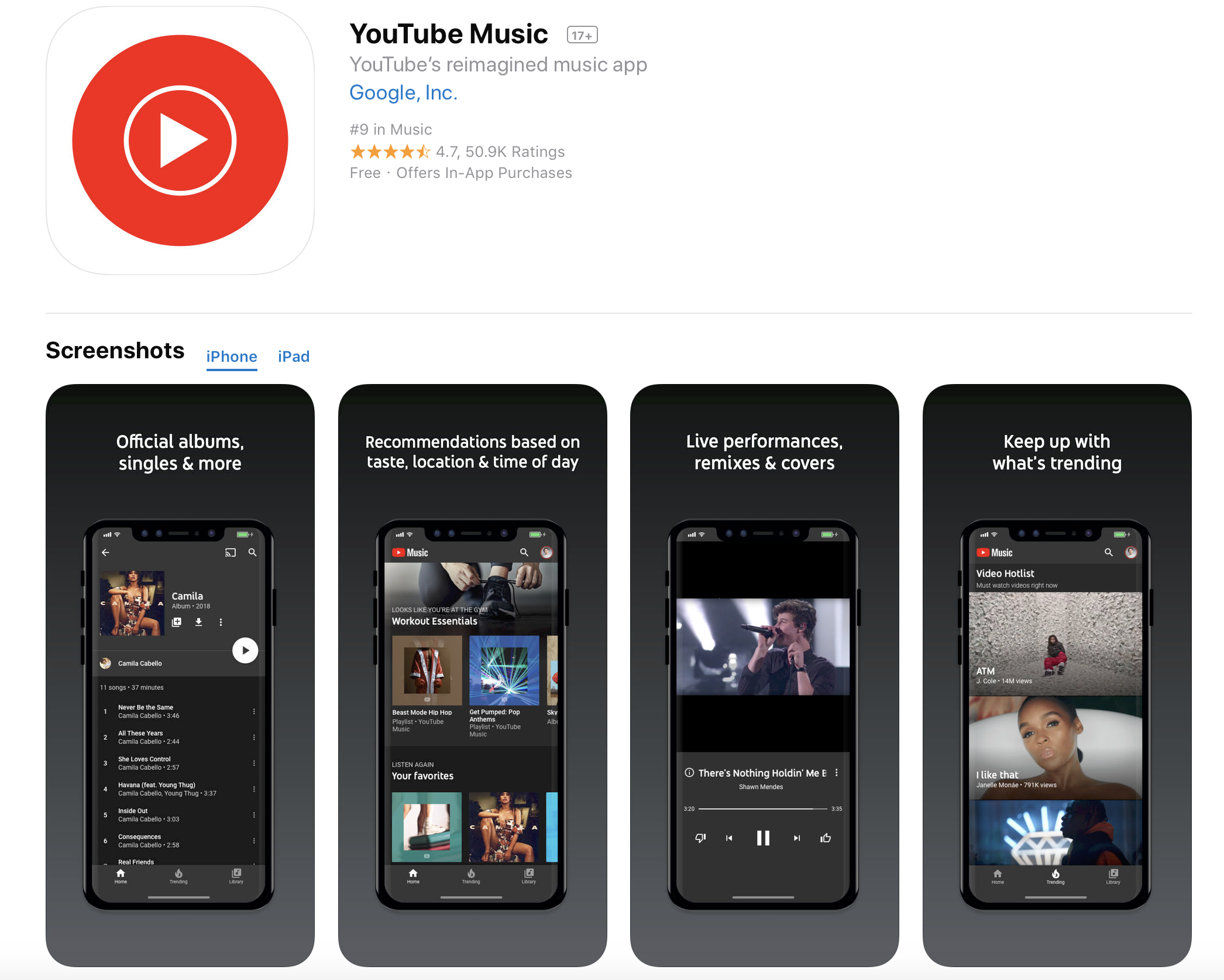 YouTube Music & YouTube Premium Streaming Services Launch